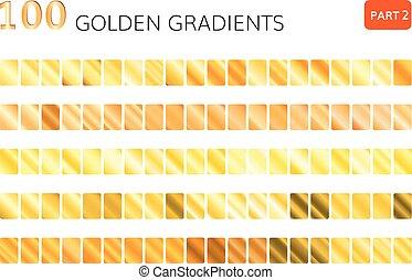 golden gradient vector 100 elements