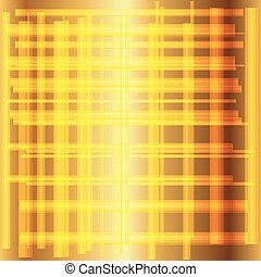 Golden grid background vector