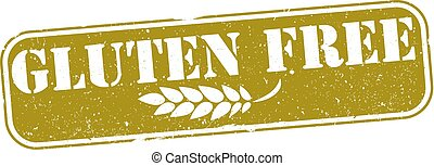 golden grunge gluten free rubber stamp