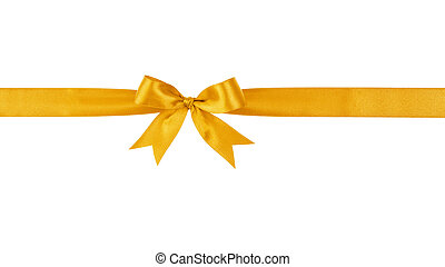 golden handmade ribbon with bow