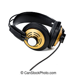 Golden Headphones - gold headphone