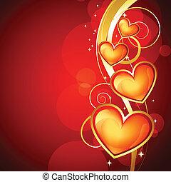 golden heart design
