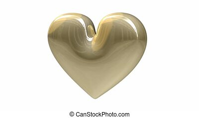 Golden heart in loop