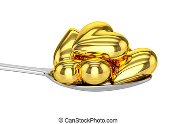 Golden Hearts and Spoon