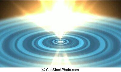 golden heaven light and blue ripple