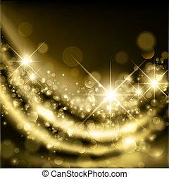 Golden Holiday Background