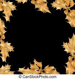 Golden Holly Leaf Frame