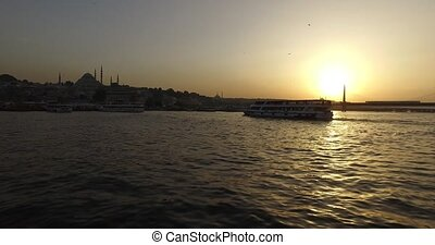 Golden Horn from Galata Bridge