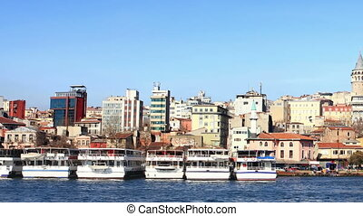Golden Horn, Istanbul in Summer Time