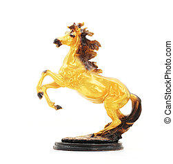 Golden Horse Statue Isolate