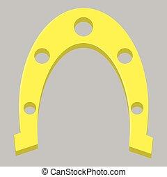 Golden horseshoe isolated