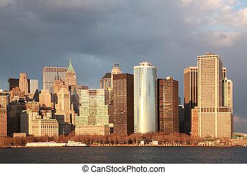 Golden hour, Manhattan, New York City, USA