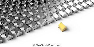 Golden house. Concept leadership