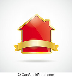 Golden House Golden Flag - Infographic with house on the ...