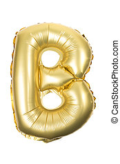 Golden Inflatable letter uppercase