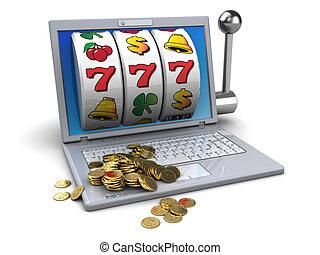 golden jackpot - 3d illustration of online jackpot concept