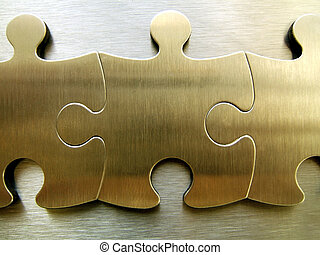 Golden jigsaw