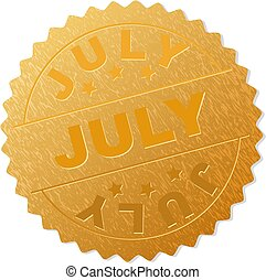 Golden JULY Medallion Stamp