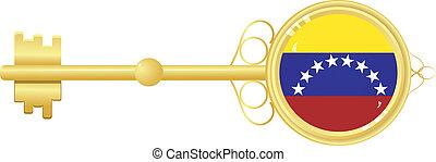 golden key from Venezuela