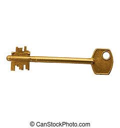 Golden key white