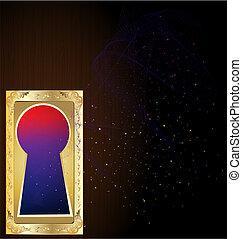 golden keyhole