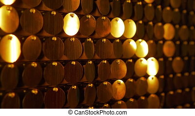 Golden kinetic background with shining, shimmering lights....