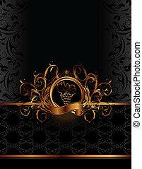 golden label for packing wine - Illustration golden label...