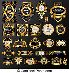 golden labels - big set of luxury labels
