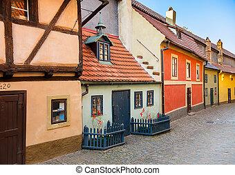 Golden Lane in Prague - Famous Golden Lane in Prague Castle