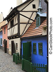 Golden Lane, Prague castle, Czech Republic - Golden Lane,...