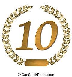 golden laurel wreath 10