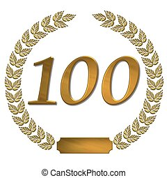 golden laurel wreath 100