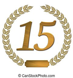 golden laurel wreath 15