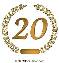 golden laurel wreath 20