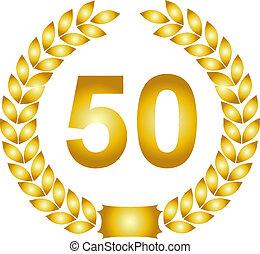 golden laurel wreath 50 years