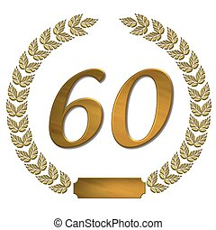 golden laurel wreath 60