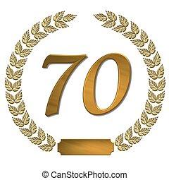 golden laurel wreath 70