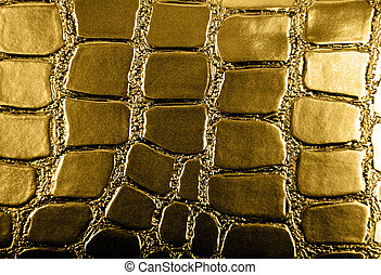Golden leather texture