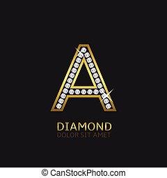 Golden letter A