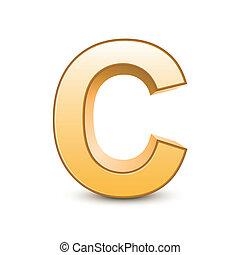 golden letter C