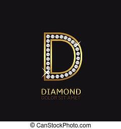 Golden Letter D