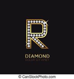 Golden Letter R