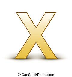 golden letter X