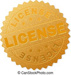 Golden LICENSE Medallion Stamp