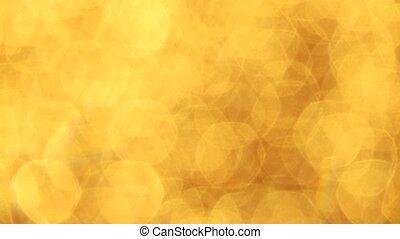 Golden Light effect - video footage of a unshap golden light...
