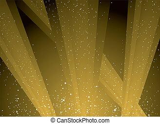golden light - golden shafts of light shooting into the sky...