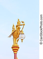 Golden light poles