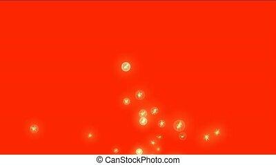 golden lightning in balls,flying bl