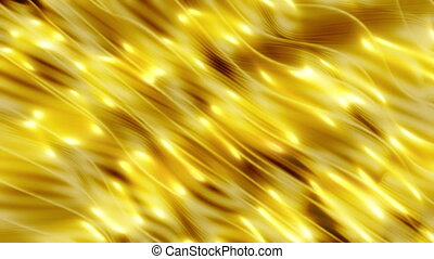 Golden lights in yellow flowing animated looping abstract background