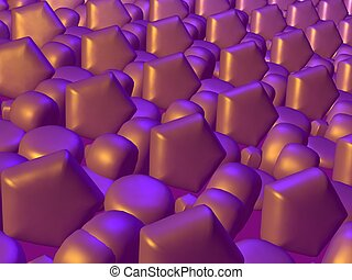 Golden lilac abstrac